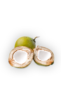 Coconut Water - This sweet, delicious, nutty-tasting liquid is found inside young coconuts. Coconut water from an unbroken coconut is naturally sterile. - via: Evolution Fresh