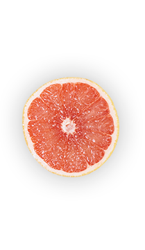 Grapefruit - Grapefruits come in a variety of colors, sizes and flavors. But good news for juicers: they tend to be about 75% juice. Grapefruits got their name because of the way they hang in grape-like clusters on the tree.  - via: Evolution Fresh
