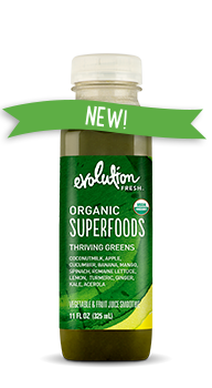Evolution Fresh | Organic Superfoods Thriving Greens |  Cold-Pressed Smoothie