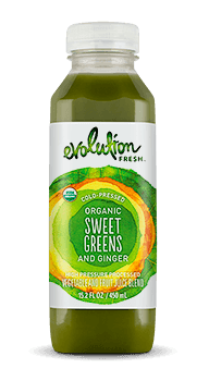 Evolution Fresh | Organic Sweet Greens and Ginger |   Cold-Pressed Juice